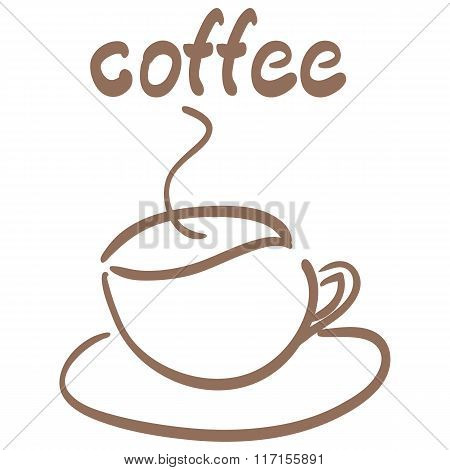 vector Cup Of Coffee isolated symbol