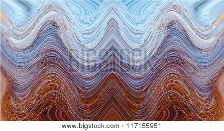 Illustration of waves in the sea