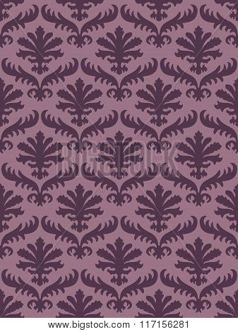 Vector Colorful Damask Seamless Floral Pattern Background. Color Trend Maroon
