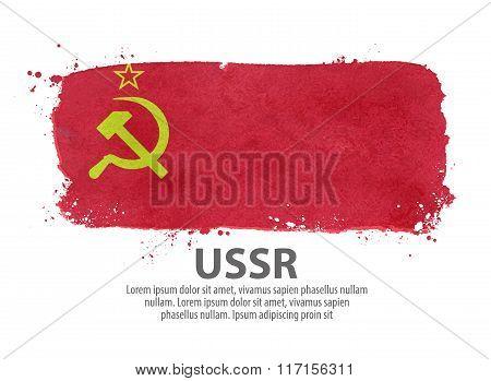 flag USSR, Russia. vector illustration