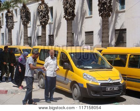 Sousse - May 10, 2013: Parking Lot Of Pablic Bus