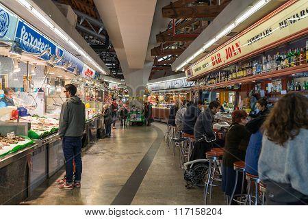 The public market Mercat de Santa Caterina Barcelona