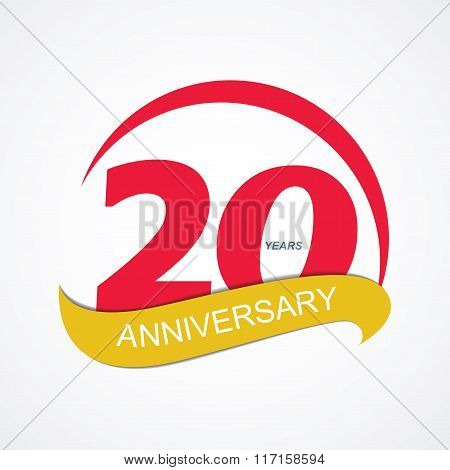 Template Logo 20 Anniversary Vector Illustration