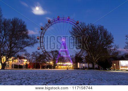 Wiener Riesenrad In The Winter