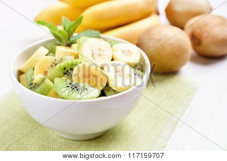 Fruit Salad With Kiwi And Banana
