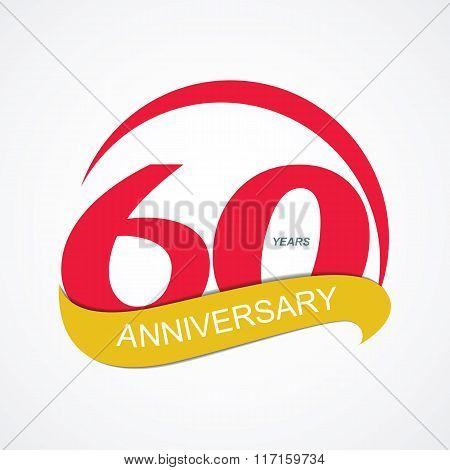 Template Logo 60 Anniversary Vector Illustration