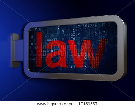 Law concept: Law on billboard background
