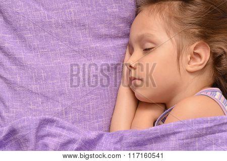 Cute little girl sleeping