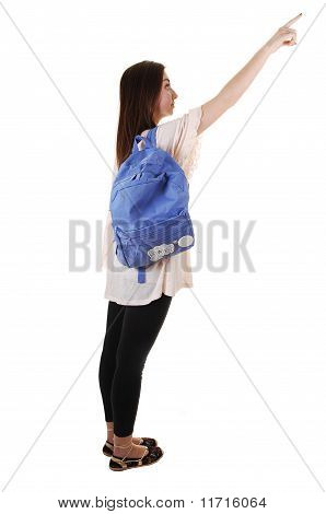 Schoolgirl With Backpack.