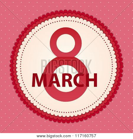 Poster 8 March Card Vector Illustration