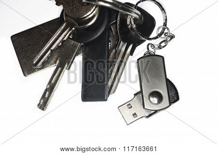 Keyring With A Usb Keychain