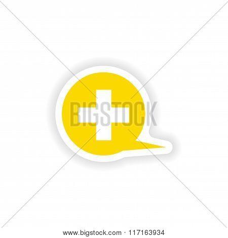 icon sticker realistic design on paper logo medical care