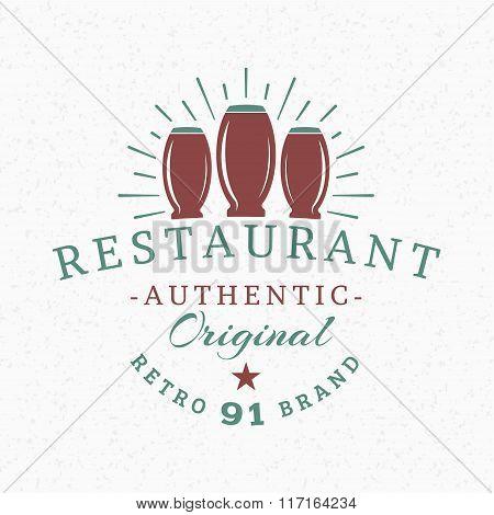 Beer Glasses. Vintage Retro Design Elements For Logotype, Insignia, Badge, Label. Business Sign Temp
