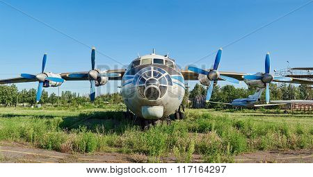 Old Soviet Aircraft An-12 At An Abandoned Aerodrome