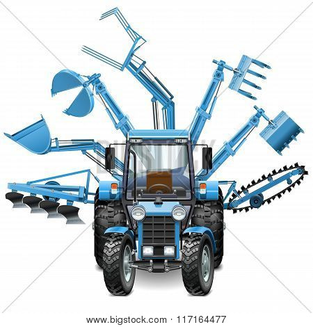 Vector Tractor Multi Equipment