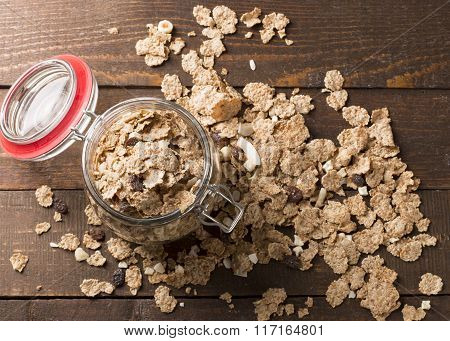 Top View Of Whole Grain Cereal