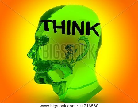 Transparent Think Head