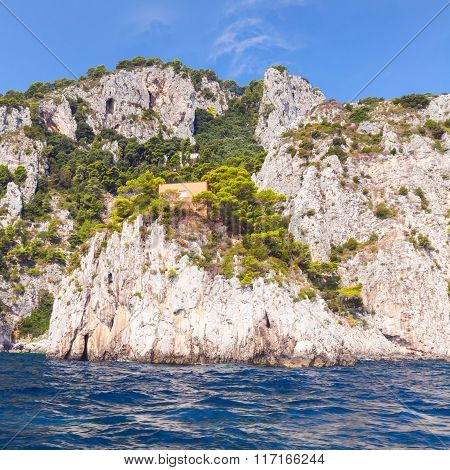 Coastal Landscape With Rocks Of Capri Island