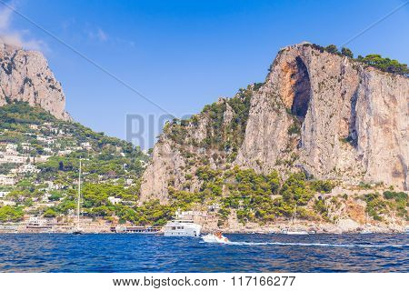 Landscape With Coastal Rocks Of Capri Island