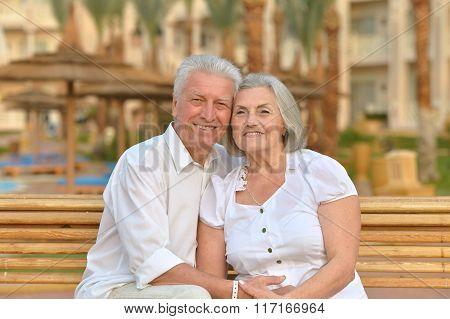 Senior couple  at hotel resort