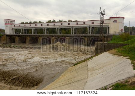 The hydroelectric dam