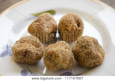 Fried Beef Meatballs