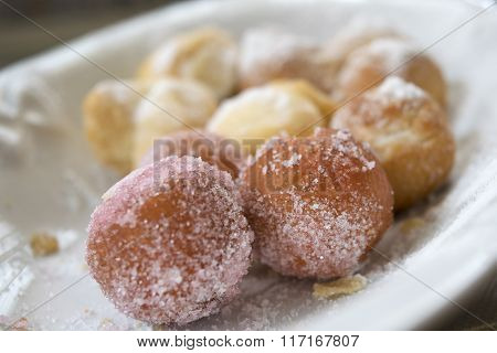 Carnival Fritters Called Castagnole