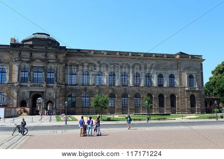 Facade Of Palace Zwinger In Dresden, Germany