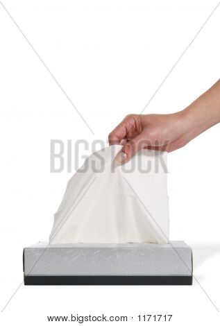 Woman Taking Tissue