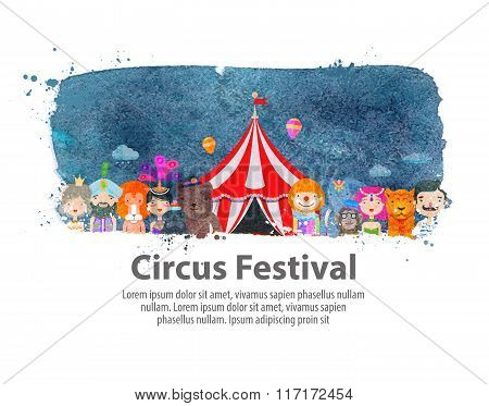 circus. vector illustration