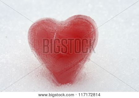 Red ice heart