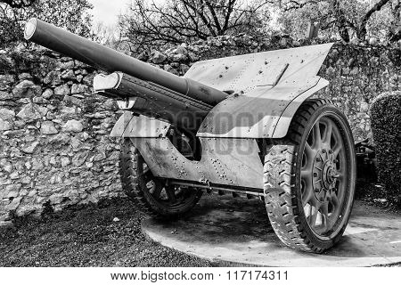 Cannon On Wheels Used During The World War I.