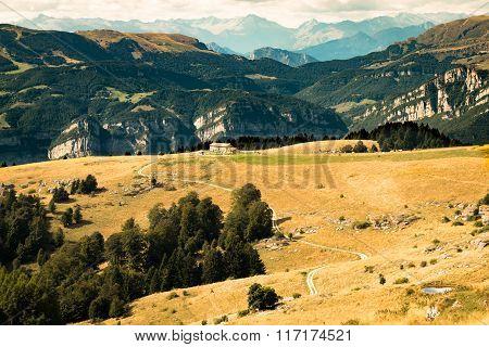 Views Of The Dolomites, Italian Alps.