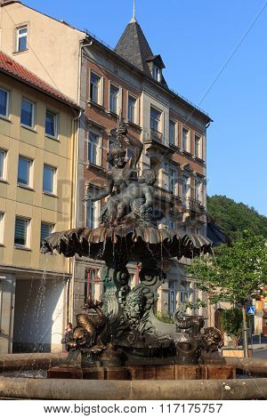 Sendig Fountain In Bad Schandau, Saxon Switzerland