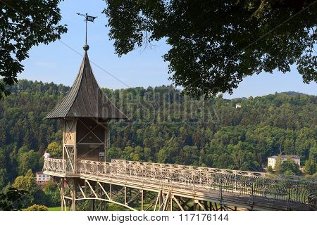 Historical Bad Schandau Elevator To Ostrau In Saxon Switzerland