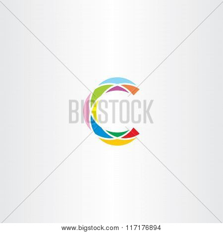 Colorful Logo Letter C Logotype C Vector Sign Icon