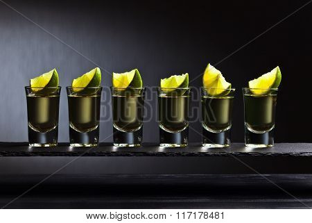 Gold Tequila With Lime