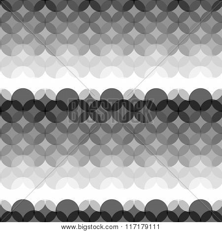 Seamless Gray Scale Pattern Created From Circle Intersections