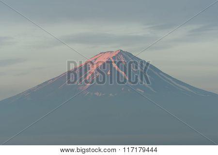 Close Up Of Mt Fuji At Sunrise Time, Japan