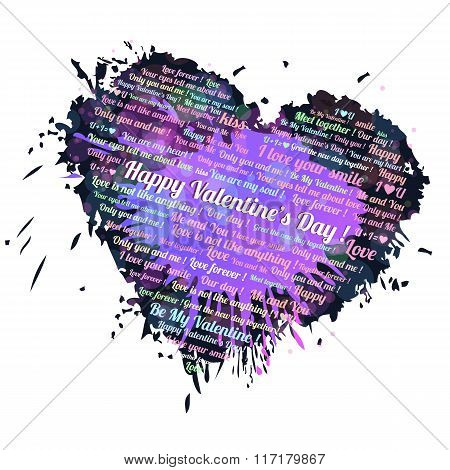 Heart blots ink