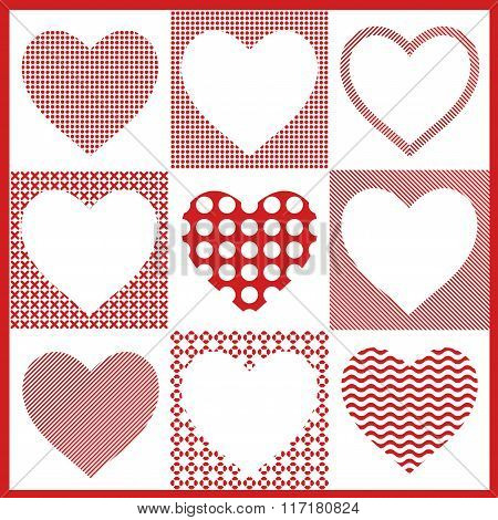 Vector of hearts for decoration valentines day, wedding, love, first date,  happy birthday, romantic
