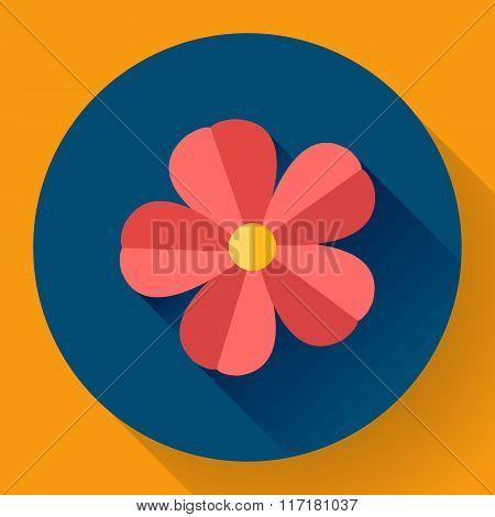 Frangipani flower icon. Nature symbol - Vector