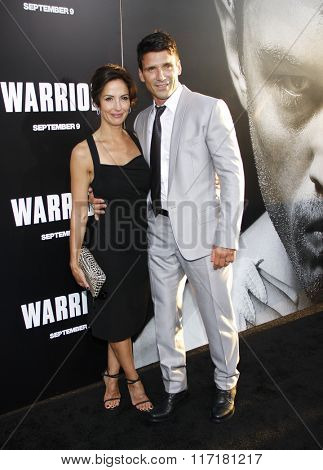 Frank Grillo and Wendy Moniz at the Los Angeles premiere of