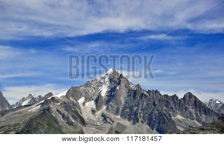 Mountains And Sky, Chamonix Mont Blanc, France