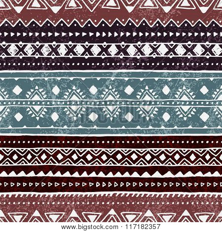 Seamless Ethnic Pattern. Colorful Geometric Vector Ornament.