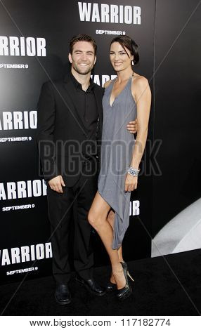Sam Hargrave and Monique Gardenton at the Los Angeles Premiere of