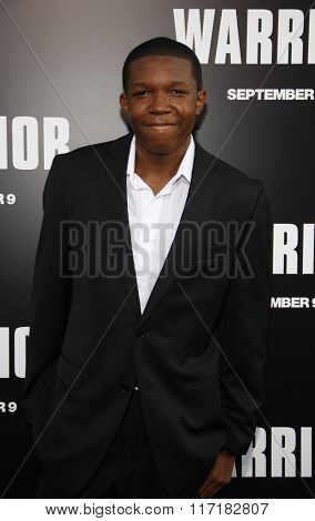 Denzel Whitaker at the Los Angeles premiere of