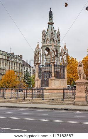 Brunswick Monument and Mausoleum in city of Geneva, Switzerland