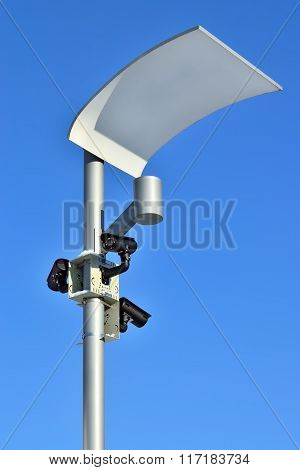 Surveillance Camera And Modern Lighting