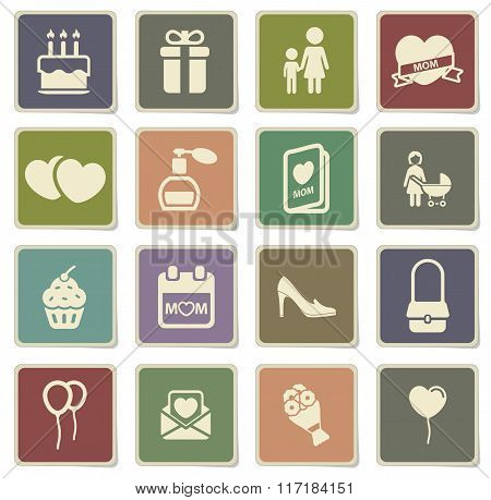 Mothers day simply icons